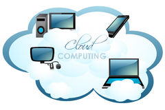 Computers on cloud Stock Photography
