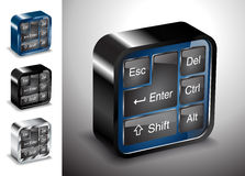 Computers electronics icons keyboard button device Stock Image