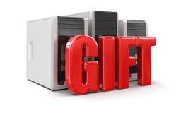 Computers en Gift (het knippen inbegrepen weg) vector illustratie