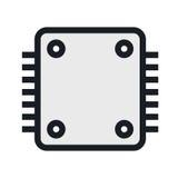 Computers en het pictogram van de elektronikatechnologie vector illustratie