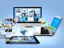 Computers en mobiele telefoon Royalty-vrije Stock Afbeelding
