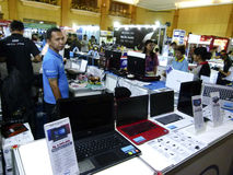 Computers expo Royalty Free Stock Image