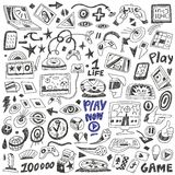 Computers games - doodles set vector Royalty Free Stock Image