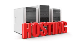 Computers and Hosting (clipping path included) Stock Photography