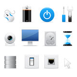 Computers icon set Royalty Free Stock Image