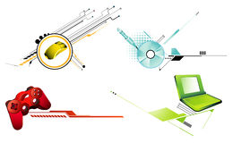 Computers icon vector. Computers icons vector illustration over a white background stock illustration
