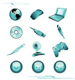 Computers icons vector Stock Images