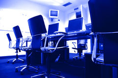 Computers In Press Room Royalty Free Stock Photography