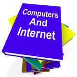 Computers And Internet Book Stack Shows Web Research Stock Image
