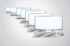 Computers and the keyboard Royalty Free Stock Photo