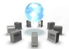 Computers rond de Wereld vector illustratie