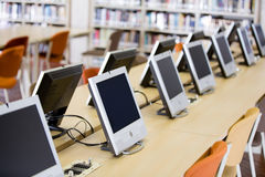 Computers room at the university Stock Photo