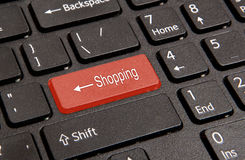Computers shopping key Stock Images