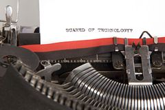 Computers suck. 1940s typewriter with scared of technology typed on paper Royalty Free Stock Images