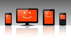 Computers, tabletten en telefoons vector illustratie