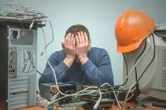 Computerschlosser Computertechnikeringenieur 3d eine Abbildung Stockfoto