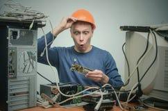 Computerschlosser Computertechnikeringenieur 3d eine Abbildung Lizenzfreies Stockfoto