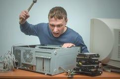 Computerschlosser Computertechnikeringenieur 3d eine Abbildung Stockfotos