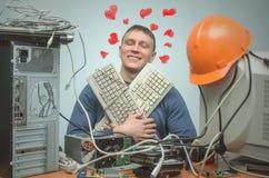 Computerschlosser Computertechnikeringenieur 3d eine Abbildung Lizenzfreie Stockfotografie