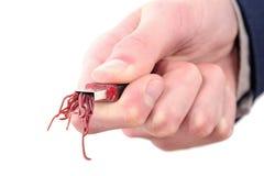 Computersicherheitsbruch wegen des Wurmbefalls vom USB-Blitz-Antriebspc-Zerhacken Stockfotos