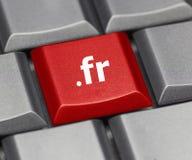 Computersleutel - Internet-achtervoegsel van Frankrijk Royalty-vrije Stock Afbeeldingen