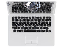 Computersystemabsturzkonzept - Kerbe, Trojan, Virus, stockbild