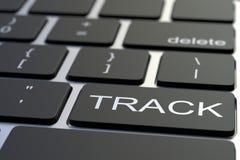 Computertastatur, die BAHN-Schlüssel kennzeichnet Begriffswiedergabe 3d Lizenzfreie Stockbilder