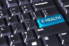 Computertastatur mit Egesundheitswort Stockfotos