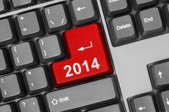 Computertastatur mit Schlüssel 2014 Lizenzfreie Stockfotografie