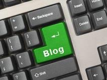 Computertastatur mit SchlüsselBlog Lizenzfreie Stockfotografie