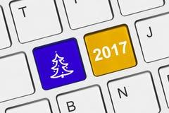Computertastatur mit Weihnachtstasten Lizenzfreie Stockfotografie