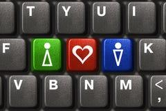 Computertastatur mit Yes, Nr. und möglicherweise Tasten Stockfotos