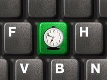 Computertastatur mit Zeittaste Lizenzfreies Stockfoto