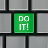 Computertastatur tun es Lizenzfreie Stockbilder