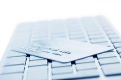 Computertastatur und -Kreditkarte Stockbilder