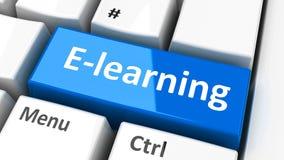 Computertastature-learning Lizenzfreie Stockbilder