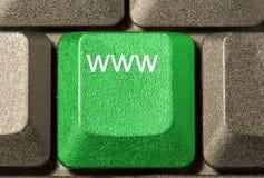 Computertaste in einer Tastatur Stockbild