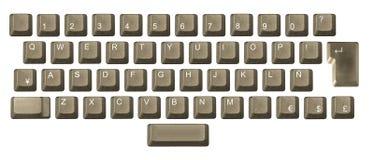 Computertaste in einer Tastatur Lizenzfreies Stockbild