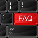 Computertaste FAQ lizenzfreie abbildung