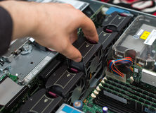 Computertechnicus Stock Foto