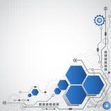 Computertechnologie-Geschäftshintergrund-Vektorillustration des abstrakten futuristischen Stromkreises hohe Stockbild
