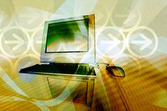 Computertechnologieachtergrond Royalty-vrije Stock Afbeelding