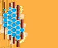 Computertechnologiegeschäft des futuristischen Internets der Wissenschaft hohes Stockbilder