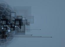 Computertechnologiegeschäft des futuristischen Internets der Wissenschaft hohes Lizenzfreie Stockfotografie