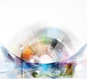 Computertechnologiegeschäft des futuristischen Internets der Wissenschaft hohes Lizenzfreie Stockfotos