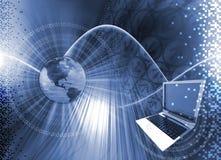 Computertechnologiehintergrund Lizenzfreies Stockfoto