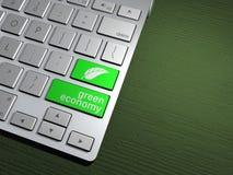 Computertoetsenbord, de onderzoeksknoop Zoekmachine, de groene economie Royalty-vrije Stock Afbeeldingen