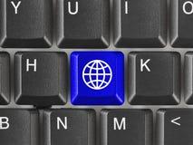 Computertoetsenbord met Aardesleutel Royalty-vrije Stock Afbeelding