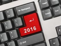 Computertoetsenbord met de sleutel van 2016 Royalty-vrije Stock Foto's
