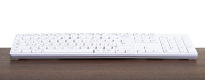 Computertoetsenbord op lijst Stock Foto's